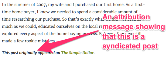 Example of syndicated post