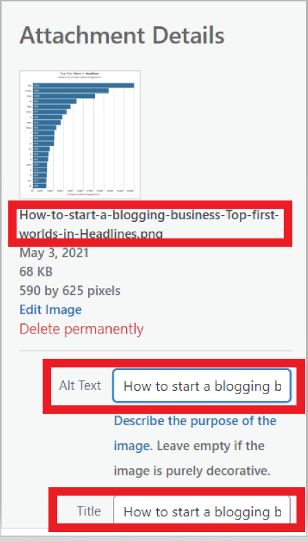How to start a blogging business - Adding image