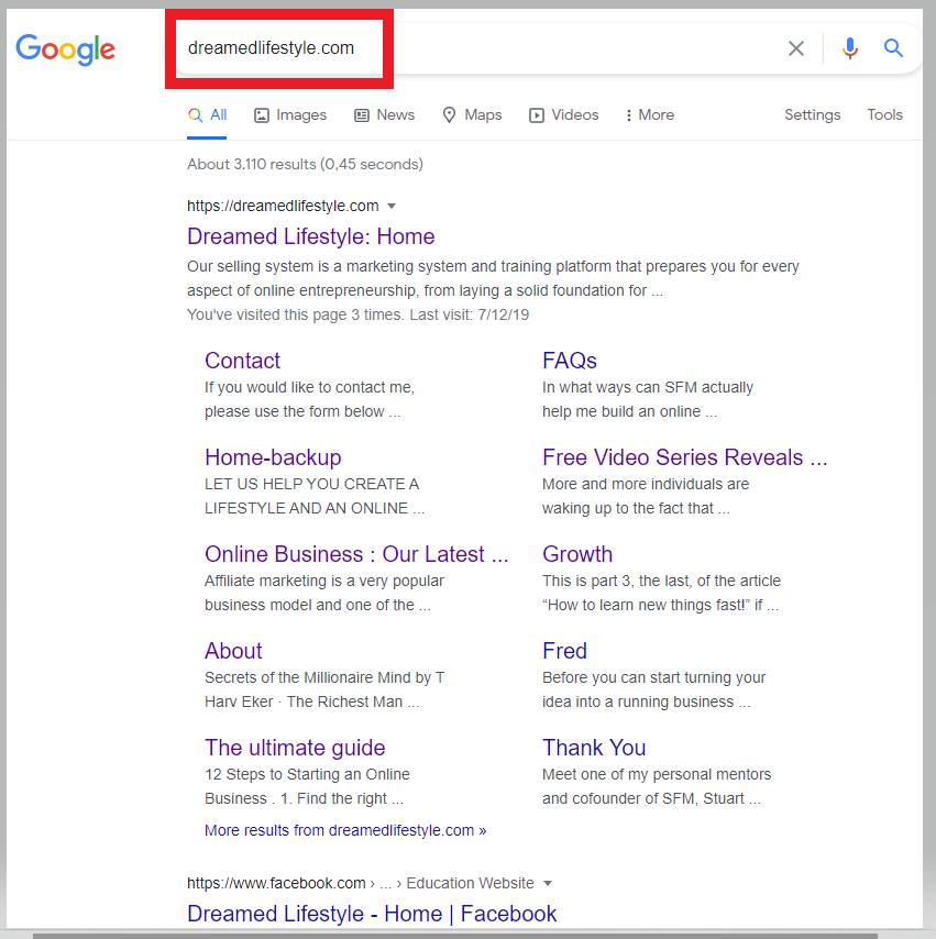 How to start a blogging business - Check whether site is indexed